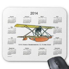 2014 Airplane Calendar Mouse Pad Design from Calendars by Janz