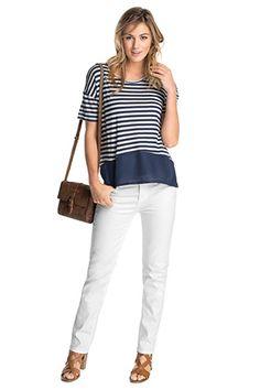 Esprit - Stretchige Basic-Jeans mit feiner Struktur im Online Shop kaufen