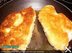 Cordon bleu von der Pute mit Kräuterfrischkäse Cordon Bleu, Kraut, French Toast, Breakfast, Ethnic Recipes, Food, Food Food, Cooking, Essen