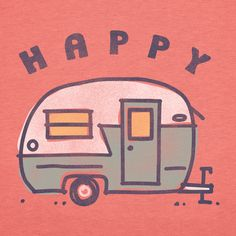 Women's Happy Camper Short Sleeve Crusher Tee | Camping Tee Shirts | Life is good