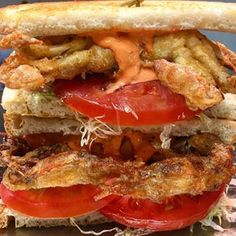 soft shell crab with peppadew pepper