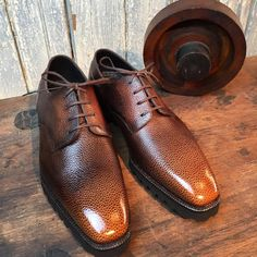 "toboxshoes: ""Norman Vilalta derby in his signature 3D scotch grain finished. Stunning! MTO @toboxshoes. (at ToBox) """