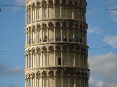 Climbing Leaning Tower of Pisa (Waving)