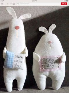 Bunny with have a nice day