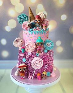 Trendy Ideas cupcakes for kids birthday little girls Barbie Birthday Cake, Funny Birthday Cakes, Funny Cake, 7th Birthday, Birthday Wishes For Kids, Birthday Cakes For Teens, Happy Birthday Little Girl, Bolo Barbie, Barbie Cake