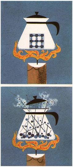 Heat to Kinetic Energy Vintage Illustration