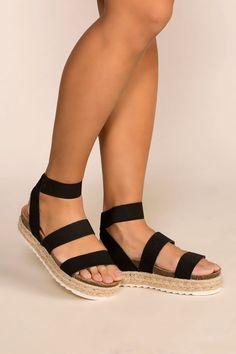 7061423001 Quinten Black Platform Sandals Black Platform Sandals, Flat Sandals, Trendy  Sandals, Sock Shoes
