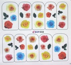 Buy 2 get 1 Free. Romantic  Yellow Pink Blue Rose by tigerlilies, $2.30