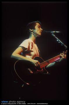 Suzanne Vega Live in Athens @ Rodon Club, 1990. Photo: Spiros Katopodis/VPA