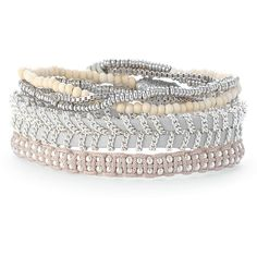 Stella & Dot Lola Wrap Bracelet ($59) ❤ liked on Polyvore featuring jewelry, bracelets, party jewelry, bead jewellery, beaded wrap bracelet, stella dot jewelry and wrap bracelet