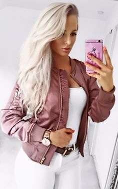 Lily Satin Bomber Jacket