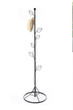 Black Creative Tree Leaves Clothes Coat Hat Hanging Stand Rack Iron Metal: Amazon.co.uk: Kitchen & Home