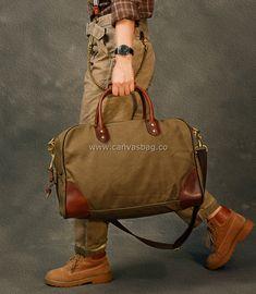 duffle bag travel Canvas Duffle Bag, Duffle Bag Travel, Travel Bags, Leather Bag, Fashion, Travel Handbags, Moda, Fashion Styles, Travel Tote