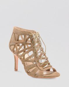 Pour La Victoire Open Toe Lace Up Sandals - Charlize High Heels
