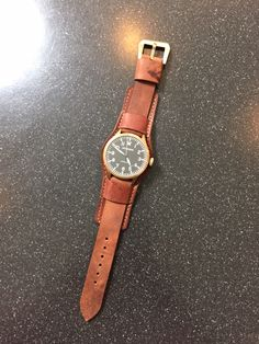 Custom Bund Horween Leather Watch strap from 922Leather