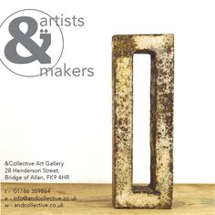 Artists & Makers at &Collective Art Gallery. Jane Cairns Ceramics on cover - Bridge of Allan