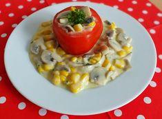 Süssünk, főzzünk valamit!: Kukoricás gombasaláta Cheeseburger Chowder, Risotto, Soup, Ethnic Recipes, Soups