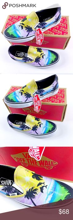 Vans Classic Slip On Dolphin Beach RARE Vans Classic Slip Ons Dolphin Beach Rare and collectable Brand new with box Size 7 Men/ 8.5 Women Vans Shoes Sneakers