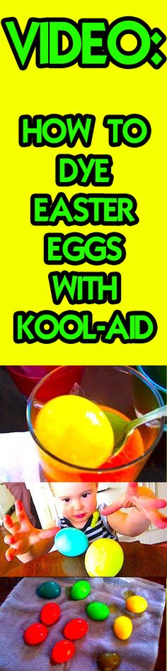 Did you know that you can use Kool-Aid to dye your Easter eggs?  http://youtube.com/TheFunnyrats & http://youtube.com/LaneVid