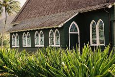 Hanalei Church by Dennis Begnoche - Photo taken of church in Hanalei Kauai. Click on the image to enlarge.