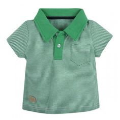 Andy & Evan for Little Gentlemen! Striped Polo with Oxford Accents - 100% Cotton