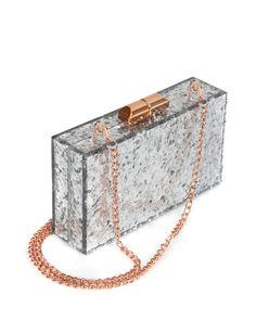 Glitter hard case clutch - Silver Colou | Bags | Ted Baker UK
