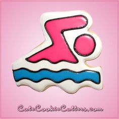 Pink Swimmer Cookie Cutter