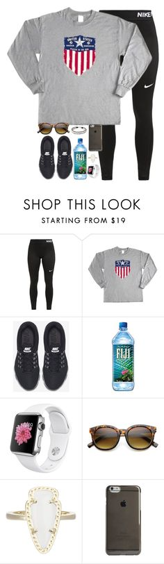 """""""7.3 billion people are experiencing the same day in different ways"""" by kaley-ii ❤ liked on Polyvore featuring NIKE, Kendra Scott, Agent 18 and NOVICA"""