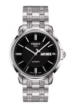 tissot t0334102205300 silver gold stainless steel watch men s swiss luxury automatic movement wrist watch from the automatic iii collection featuring a stainless steel case a silver dial index