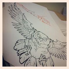Illustration by Sara Fabel #tattoo art