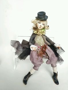 Купить Луиза. кукла интерьерная авторская коллекционная ручной работы - кукла, куклы