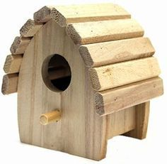 Plaid Round Wood Surface Crafting Birdhouse, 1243 Mini
