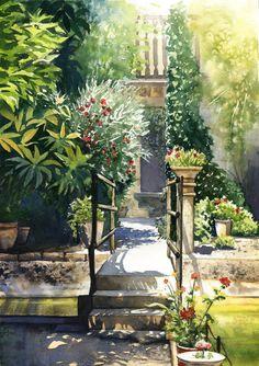 Mallorca  garden of Son Marroig Mansion   ORIGINAL by JoaRosa