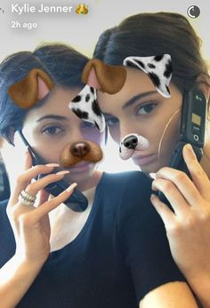 Silly: Kendall and Kylie Jenner got to spend some quality time with each other and had a blast, messing around with their own flip phones