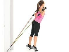 Legs Exercises With Resistance, Exercise Bands are amazing because they build muscle without the wear and tear on your joints. Build quality muscle with bands! Resistance Band Arms, Resistance Workout, Resistance Band Exercises, Exercise While Sitting, Calf Machine, Cable Workout, Hammer Curls, Exercise Bands, Training