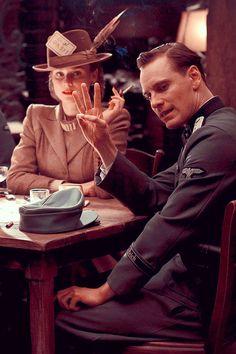 Michael Fassbender and Diane Kruger in Inglourious Basterds (2009) dir. Quentin Tarantino