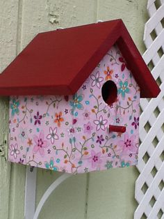 Custom bird house with newts out west on face book