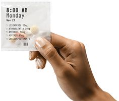 "Medication Adherence Solution  Offered by PillPack   Gets mailed to your house. Combines your prescriptions, over-the-counter medications, and vitamins into packets sorted by day/time. Takes the ""remembering"" and ""inconvenience"" out of taking your medications."