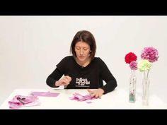 VIDEO DE MANUALIDADES INFANTILES TUTORIAL FLORES DE TELA - YouTube