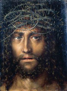 Cranach l'Ancien - Renaissance - Tête du Christ avec couronne d'épines (1520-1525)