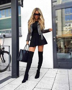 Fashion Day Style is store for Fashion Clothing and Apparel accessories - Outfits Best Street Style, Cool Street Fashion, Look Fashion, Autumn Fashion, Mode Outfits, Fashion Outfits, Womens Fashion, Fashion Trends, Outfits With Boots
