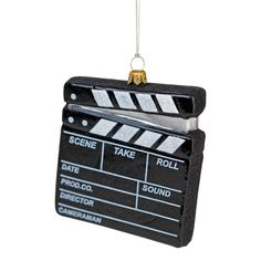 Film clapper board Christmas Bauble, perfect for film or tv addicts Christmas Tree Baubles, Film, Tv, Board, Movie, Movies, Film Stock, Film Movie, Tvs