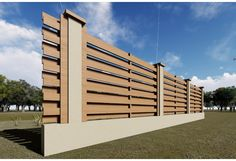 Gard din beton si lemn GA04 natur Wood, Woodwind Instrument, Timber Wood, Trees
