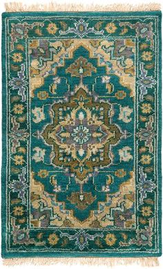 Ancient designs, rich color palettes and quality craftsmanship combine to create the radiant rugs of the Zeus Collection. Hand Knotted in India, each rug is a m