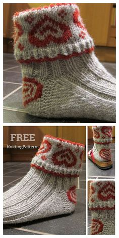 Heart Valentine Socks Free Knitting Patterns – Knitting Patt… – Knitting Models and Suggestions Knitted Heart Pattern, Crochet Sock Pattern Free, Knitting Yarn, Free Knitting, Small Knitting Projects, Fair Isle Knitting Patterns, Sock Yarn, Christmas Knitting, Knit Socks
