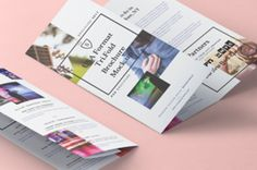 This is the second volume of our perspective US letter 8.5x11 inch tri-fold psd brochure mockup template to showcase your designs....
