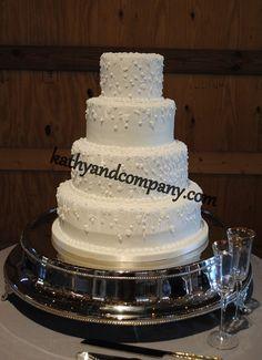 Cascading vine wedding cake.
