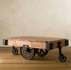 Early American 1900 industrial factory cart