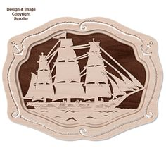 Nautical Ship and Lighthouse Scroll Saw Pattern. | Scroll ...