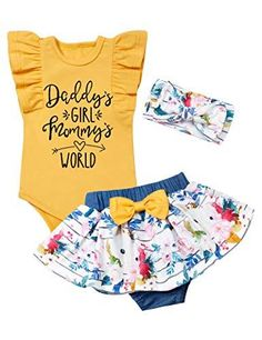 Baby Girl Pants, Cute Baby Girl Outfits, Baby Girl Romper, Daddys Girl, Baby Girl Headbands, Toddler Girl Outfits, Toddler Fashion, Girl Fashion, Cute Baby Shower Gifts